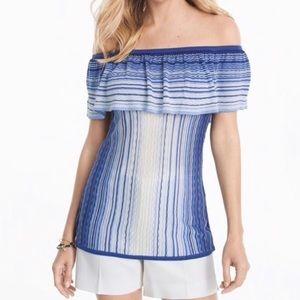 White House Black Market sz large striped sweater